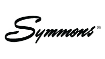 Symmons logo written in script font